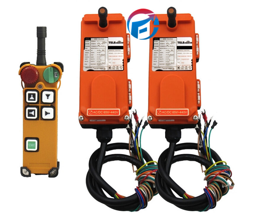 F21-4D 4 Channels 2 Speed Hoist Industrial Crane Wireless remote control Switches (1 Transmitter+2 Receiver) AC/DC18V-65V industrial hoist crane wireless remote control f21 e1 2transmitter 1receiver ac dc 65v 440v