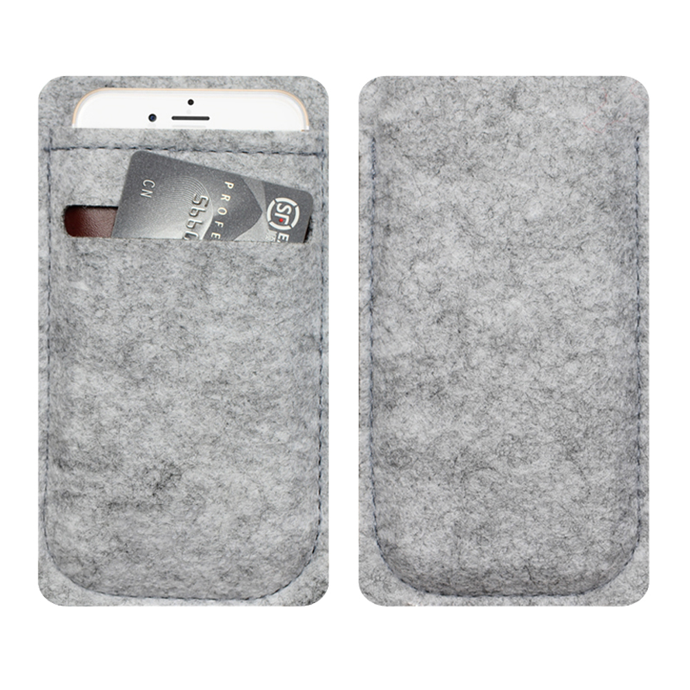 phone bag For iPhone 5 6 Wool Felt Wallet case For iPhone 5 6 mobile phone pouch bags cases luxury Cover case Lady