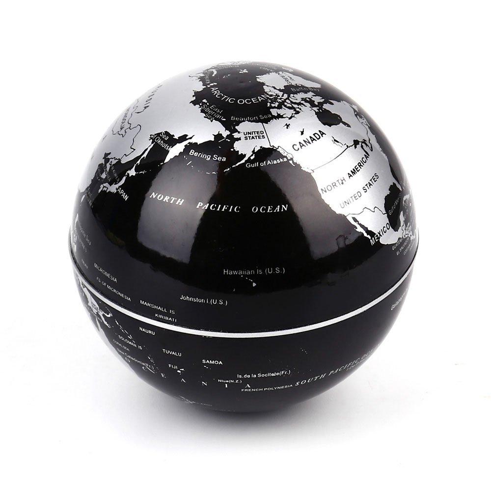 LED Lights with Floating Globe C Shape Magnetic Levitation Night light Floating Globe World Map Illuminated for Desk Decoration