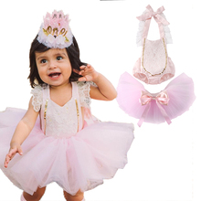 Super Cute Baby Girl Bodysuit+Tutu Skirt Clothing Set Newborn Lace Floral Halter Bodysuit+Tulle Skirts Outfits 2019