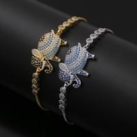 2017 exotik Elefanten Tennis Armbänder Silber & Gold Bunte Elefant Charme Armbänder Armreifen Für Mode Frauen Hochzeit Schmuck