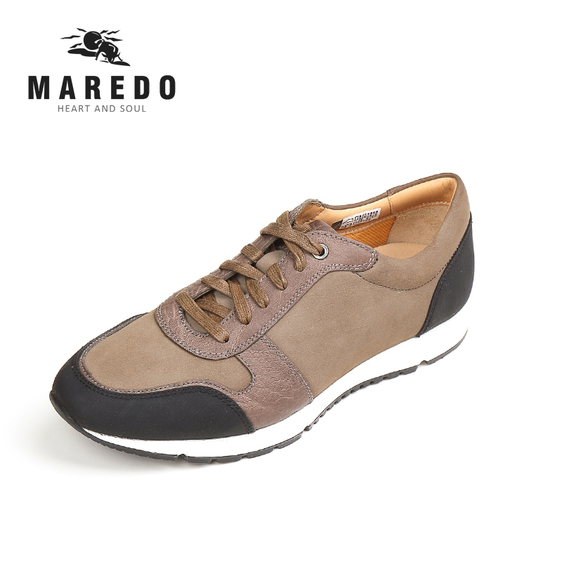 MAREDO summer men casual shoes  Breathable  leather shoes sports shoes social male shoes 2017 new spring imported leather men s shoes white eather shoes breathable sneaker fashion men casual shoes