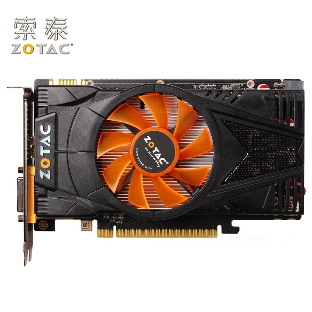 Original ZOTAC GeForce GTX 550Ti-1GD5 Graphics Card Internet Bar For NVIDIA GTX500 GTX550 1GD5 1G Video Cards 4100MHz GDDR5 Used
