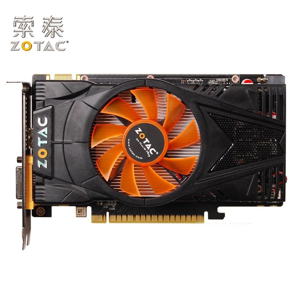 Original ZOTAC GeForce GTX 550Ti-1GD5 Grafikkarte Internet Bar Für NVIDIA GTX500 GTX550 1GD5 1G Video Karten 4100 MHz GDDR5 Verwendet