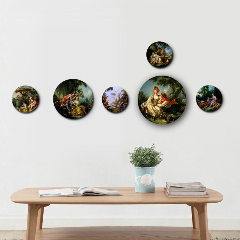 Boucher Painting Decorative Plates Ceramic Home Artistic