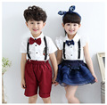 Baby Boy Summer Clothes Set Girls Dancing Clothing 3-11 Years Children's Clothes School Uniform 2pcs Vetement Enfant Garcon