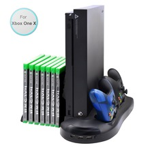 Vertical Stand Cooling Cooler Fan Controller Charging Station with Game Disk CD Storage Charger For Xbox one X ONEX Console стоимость