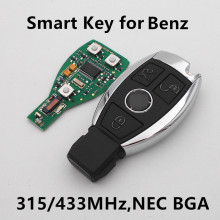 (Для Mercedes-Benz) 3 Кнопки Intelligent Smart Remote Key 315 МГц/433 МГЦ для Автомобиля BENZ 2000 + NEC BGA Sytle