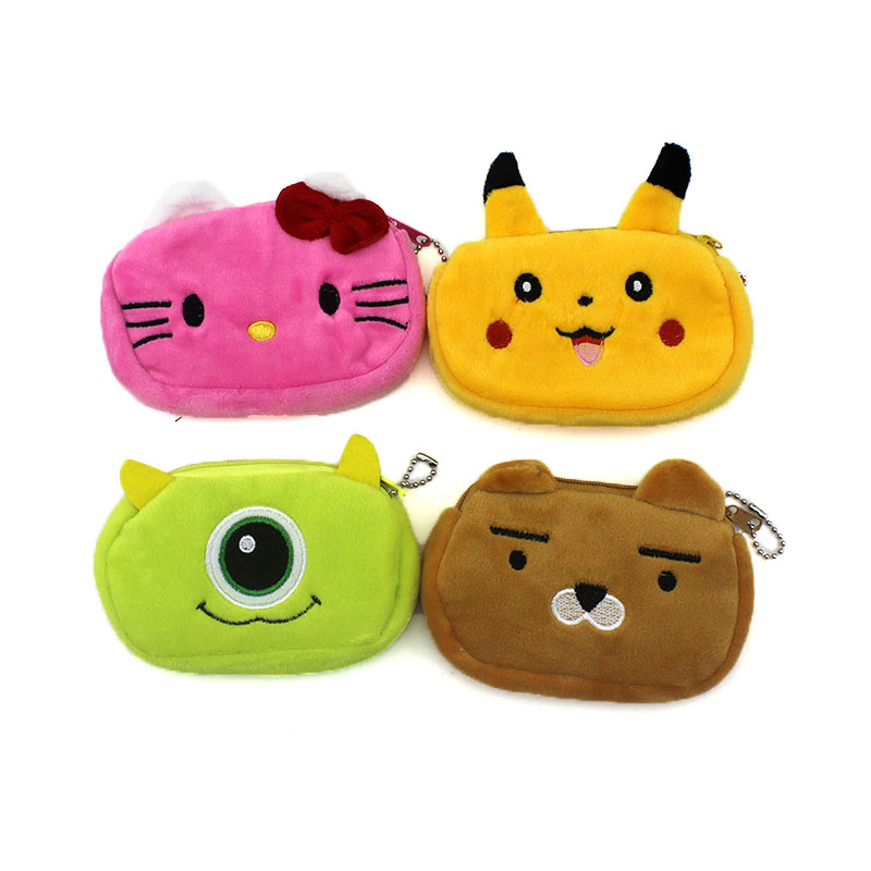 2017 Cartoon Animals Totoro Children Zipper Coin Bags Women Mini  Storage Pouch Grils Cute Wallets Kids Coin Purses Card Holders 2017 hot sale character mini wallets kids plush bag women cartoon coin purses ladies zipper pouch