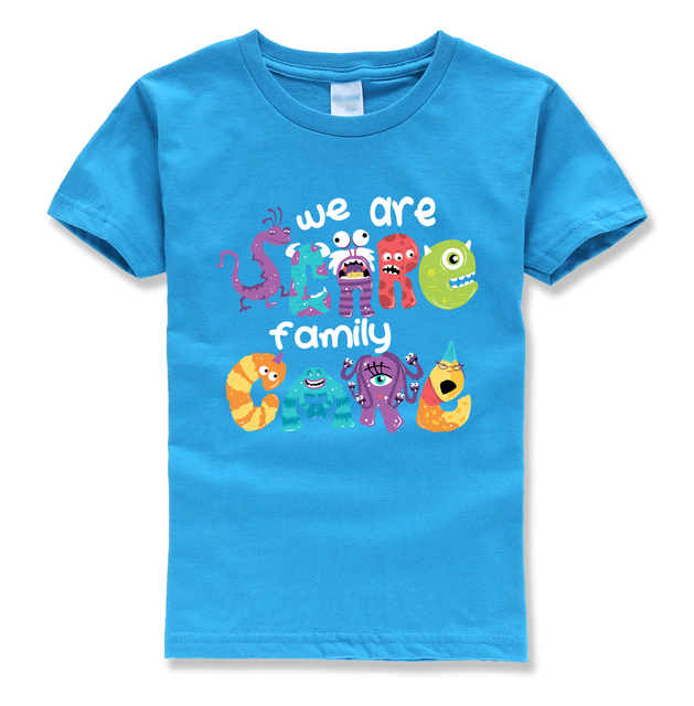 we are family letter printing children brand homme t shirts 2018 summer boys t-shirts kids clothes street hipeter tshirts boy