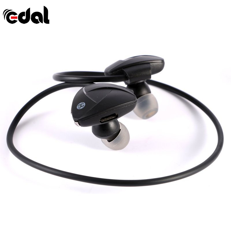 EDAL Bluetooth Headphons Headset Stereo NFC Handsfree Sport Earphone MP3 Media Player Voice Reminder Sweatproof Self Timer