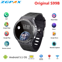 ZGPAX S99B MTK6580 Quad Core Smart Watch 512MB+8GB GPS WIFI smartwatch with 2.0 HD high camera for apple android phone pk S99C