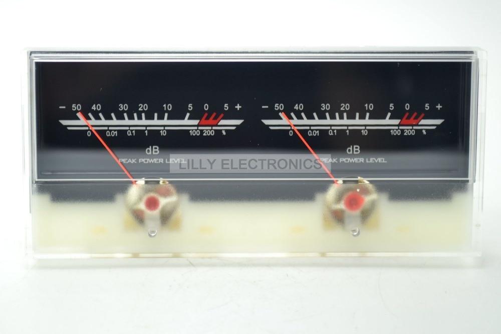 VU Meter DB Level Header Amplifier Chassis Audio Preamp Backlight P-59WTC audio power amplifier panel vu meter db level led header driver board module diy