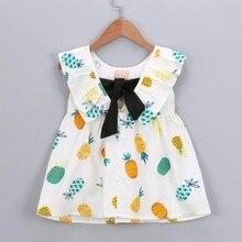 MUQGEW Baby girls Princess dress summer 2018 Newborn Toddler Baby Girls Fruit Print Princess Sleeveless Dress Casual Clothes