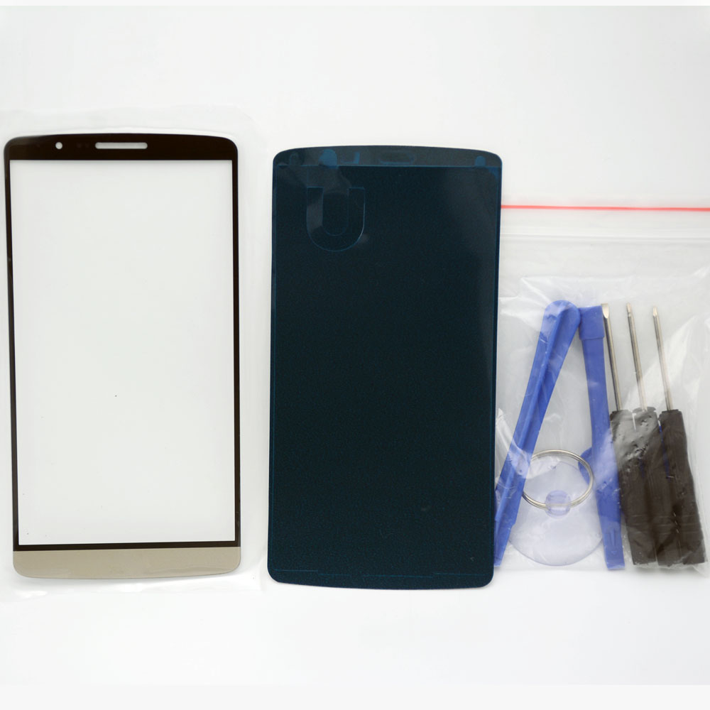 Front Outer Screen Lens Glass Replacement LG G3 Top glass + Adhesive Tools - Cell Phone Repair store