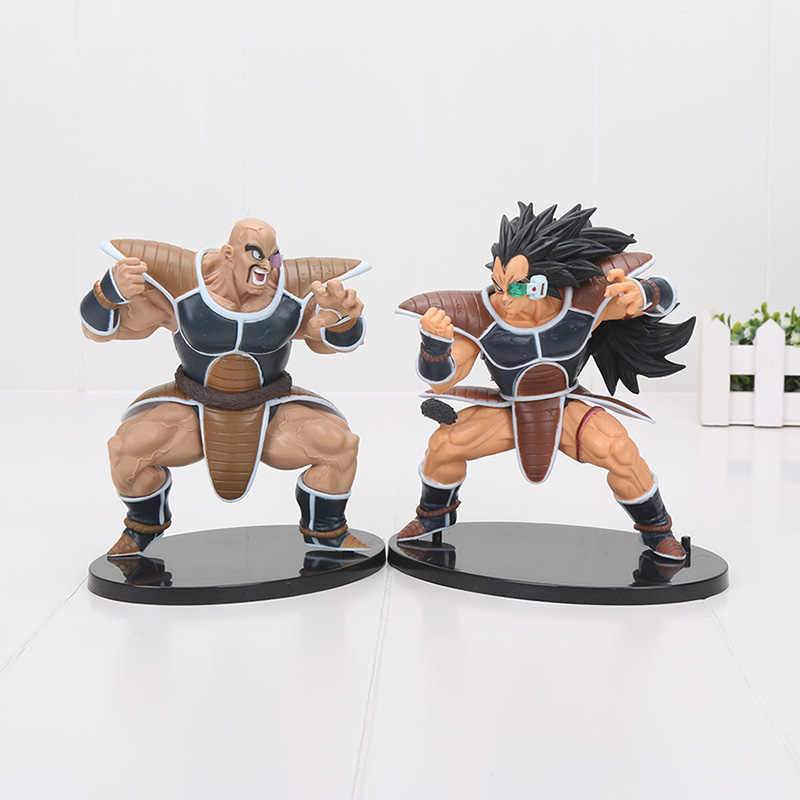 2 pçs/set 18cm SCultures NO. 21 Raditz nappa dragonball Dragon Ball Z Super Saiyan Ação PVC Figures Modelo Toy Boneca