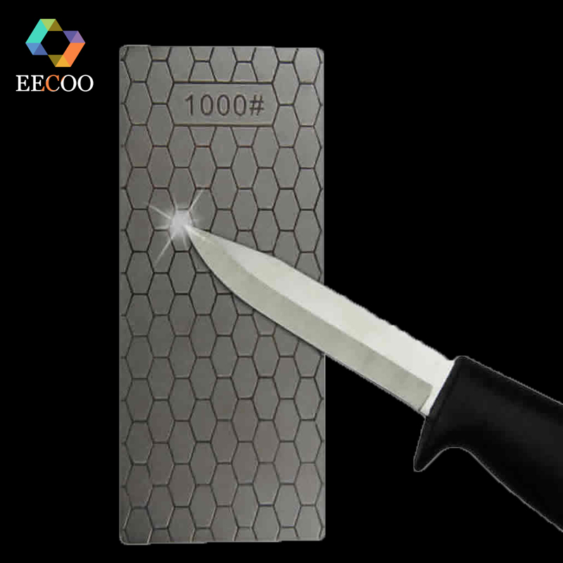 EECOO Professional 400 or 1000 Thin Diamond Sharpening Stone Knives Diamond Plate Whetstone Knife Sharpener Grinder Honing Tools(China)