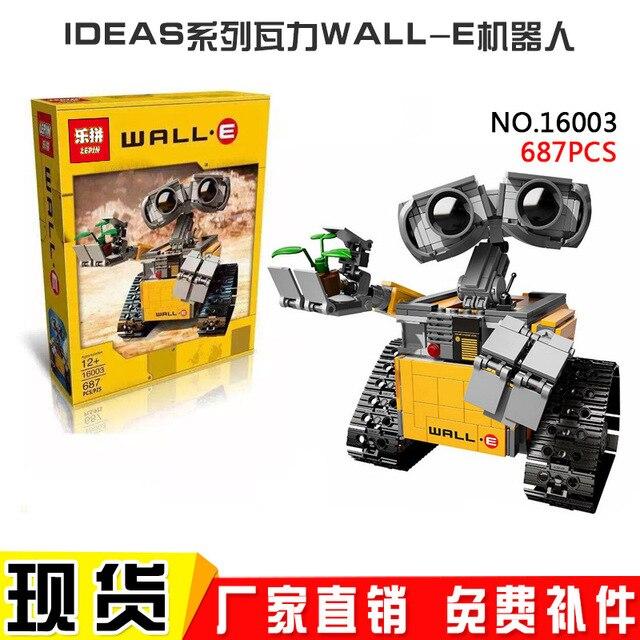 2016 Nueva Лепин 16003 Идея Робот WALL E Edificio Комплекты Набор Minifiguras Ladrillos BlocksBringuedos
