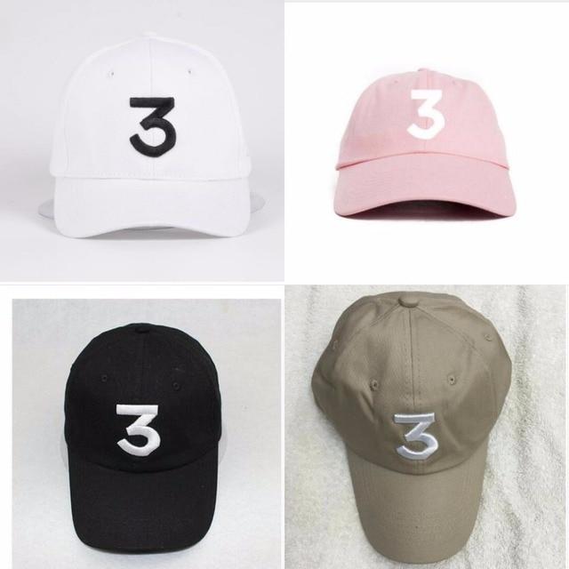 c2baea99203 Popular chance the rapper 3 Hat Cap Black Letter Embroidery Baseball Caps  Hip Hop Streetwear Strapback Snapback Sun Hats Bon