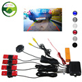 Car Parking Sensor Auto Reverse Backup Radar Detector System 13mm Original Flat Sensors Can Connect Car DVD Monitor Rear Camera