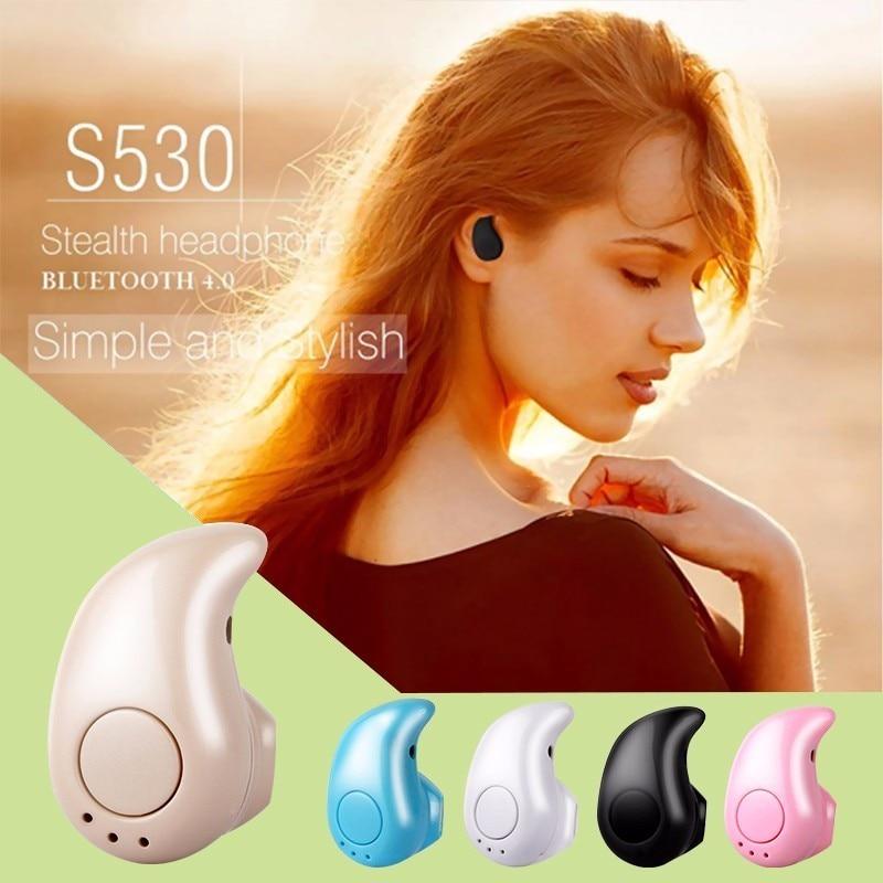 Rondaful Bluetooth Mini Earphone Wireless Earpiece Headset with Mic S530 Stereo Handfree In-ear Earphone Earbuds for iPhone