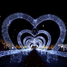 LED מחרוזת אור חג האורות חתונה יום הולדת גן צד עיטור תאורה 220V פיות רצועת חג המולד רמדאן 20M JQ