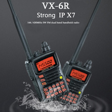 Walkie Talkie VX-6R Dual-Band 140-174/420-470 MHz Channel 900 FM Ham Two way Radio Transceiver 10 KM yaesu VX-6R radio