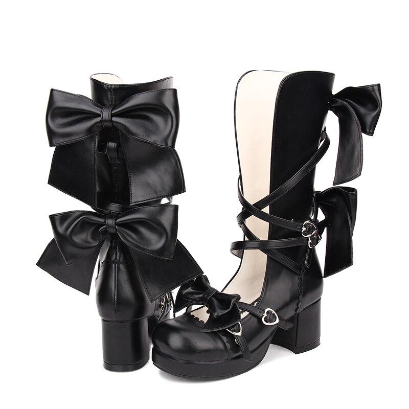 Lolita Bottes Cosplay Angélique Belle Taille 46 Haute Femmes Empreinte Talon 8210 Doux Sandales 35 Hq5w08Fq
