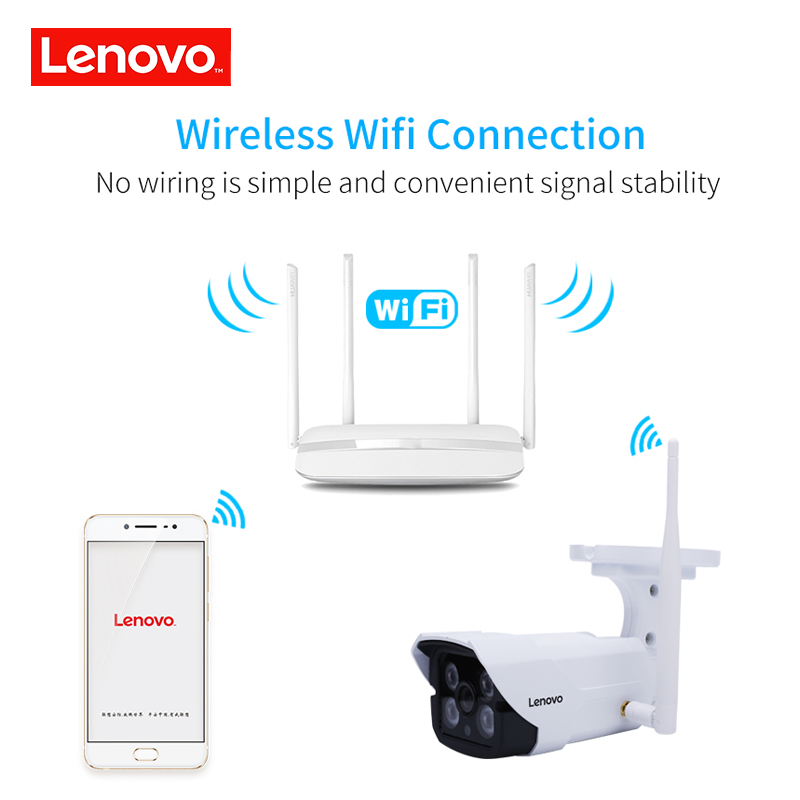 Image 3 - LENOVO IP Camera wifi 1080p IR Camera cctv outdoor ip surveillance camera night Waterproof hd Built in 64G Memory Card Camera-in Surveillance Cameras from Security & Protection