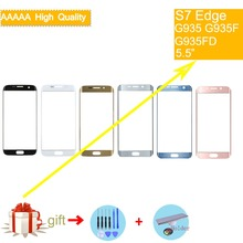 S7Edge TouchScreen For Samsung Galaxy S7 Edge G935F G935 SM-G935F G935FD G935A Touch Screen Front Panel Glass Lens Outer NO LCD