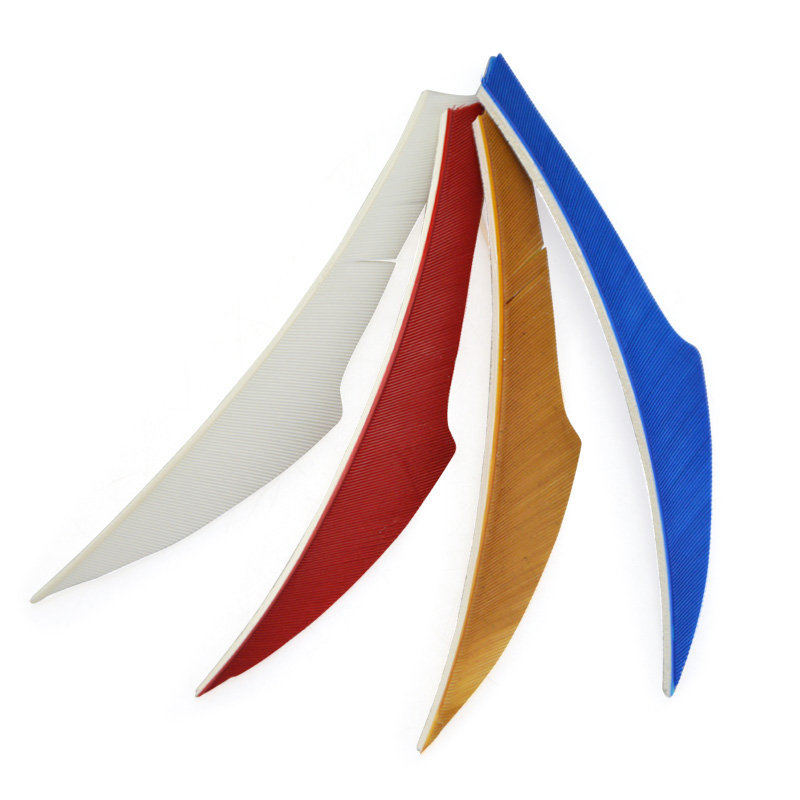 50pcs Natural Tukey Feathers 4inch Arrow Feathers Right Wing Vanes Fletches For Outdoor Bow Hunting Shooting Arcehry Accessories in Darts from Sports Entertainment