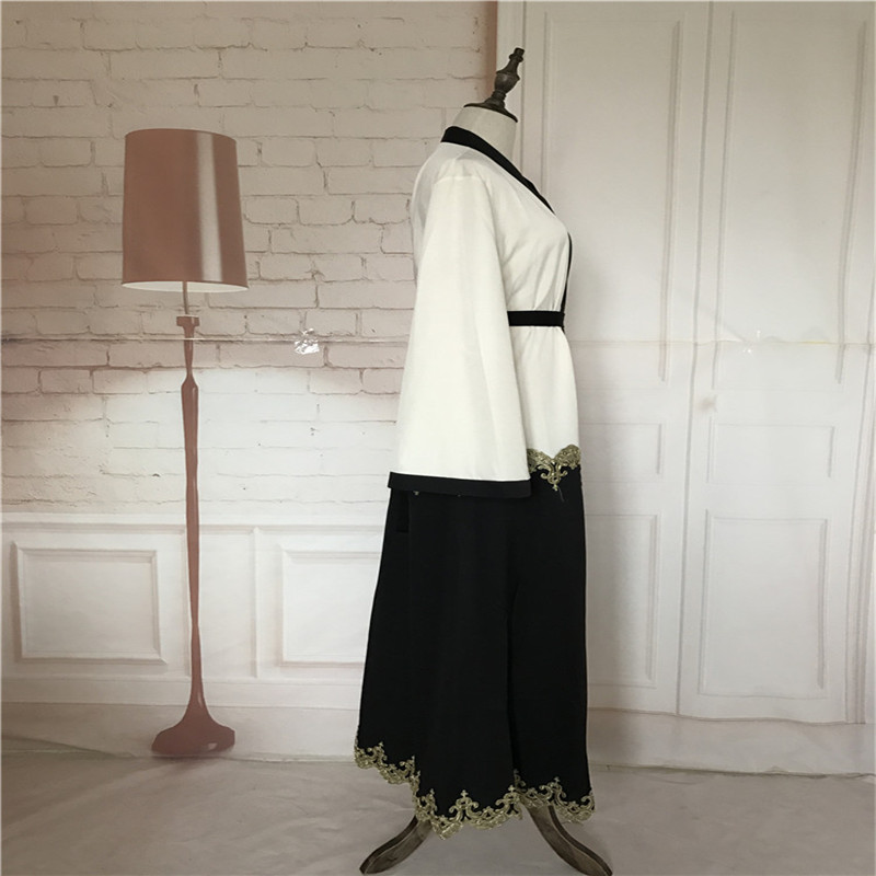 Muslim Cardigan Abaya Pakaian Turki Wanita Pakaian Panjang Pakaian - Pakaian kebangsaan - Foto 3
