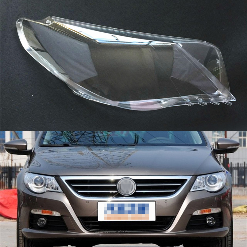 For Volkswagen VW Passat CC 2009 2010 2011 2012 Transparent Car Headlight Headlamp Clear Lens Auto