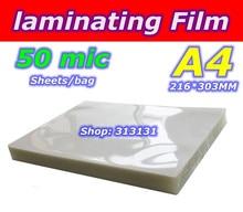 A4 size Powder coating laminating coats 50 micro Laminator film