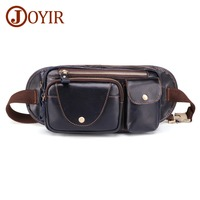 JOYIR 2019 New Genuine Leather Men Crossbody Bag Travel Fashion Chest Bag Male Belt Bag Waist Packs Men Shoulder Messenger Bag