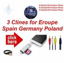 Hd Av kabel Beste Spanje 1 Jaar Clines 3/4/6 Lijnen Europa Duitsland Polen Britse Freesat Satellietontvanger