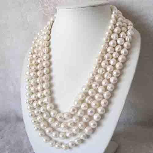 Bijoux en perles énormes, 100 pouces un collier de perles d'eau douce de couleur blanche 11-13 MM, bijoux en perles réelles rondes, nouvelle livraison gratuite