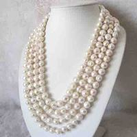 Huge Pearl Jewellery,100inches A 11 13MM White Color Freshwater Pearl Necklace,Off Round Real Pearl Jewelry,New Free Shipping