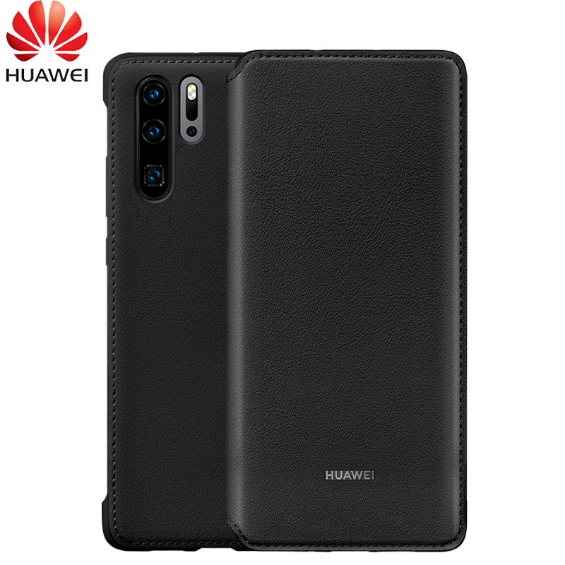 Huawei P30 Pro Case 100 Original Official PU Leather Sleep Wake Up Wallet Card Protection Flip