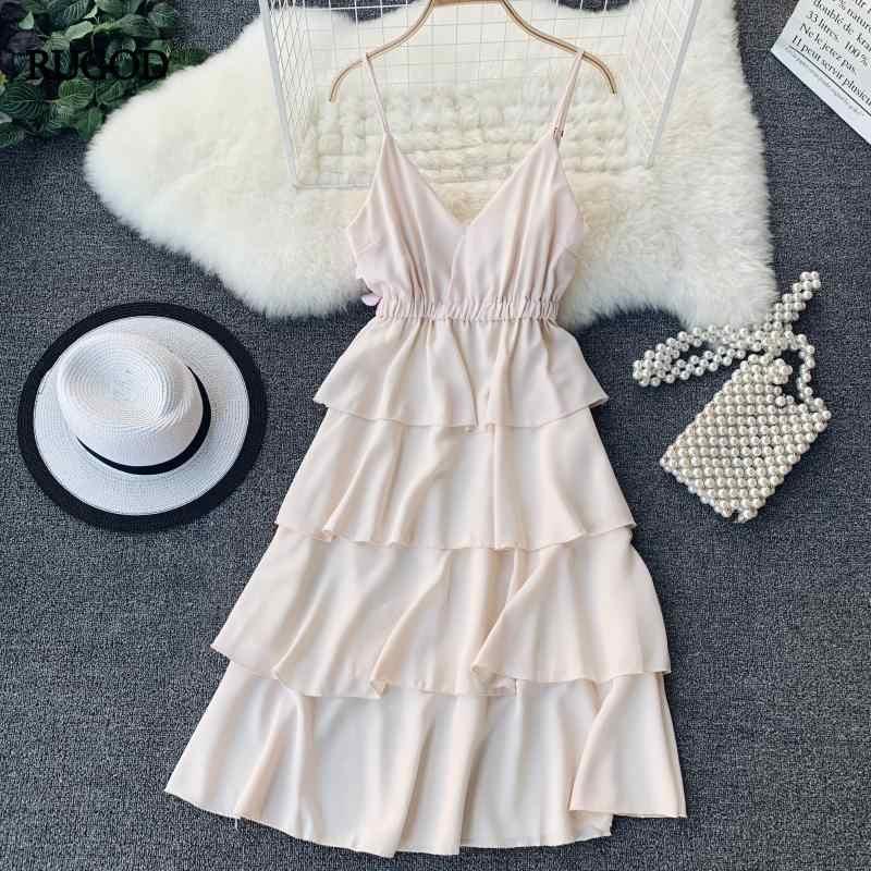 RUGOD エレガントな層女性ドレス V ネックサマービーチドレスホリデールーススポーツミディルース弾性ファッションヴィンテージ着物