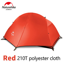 Naturehike Camping Hiking Tent Ultralight 1 Person Double Layers Aluminum Rod 4 Season 210T/20D Silicone Fabric With Free Mat