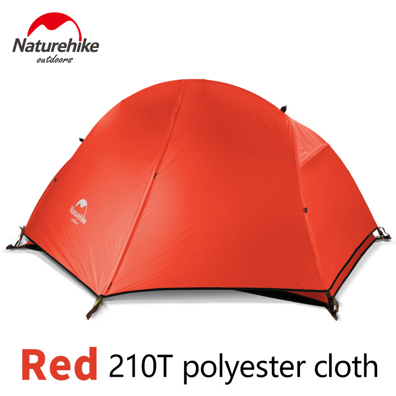 Naturehike Camping Hiking Tent Ultralight 1 Person Double Layers Aluminum Rod Tent 4 Season 210T/20D Silicone Fabric With Mat naturehike 1 person camping tent with mat 3 season 20d silicone 210t polyester fabric double layer outdoor rainproof camp tent