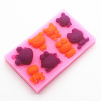 Wholesale Free Shipping Silicone Mold Ice Cube Tray Chocolate Mould 8 Hole Prince Of Frogs