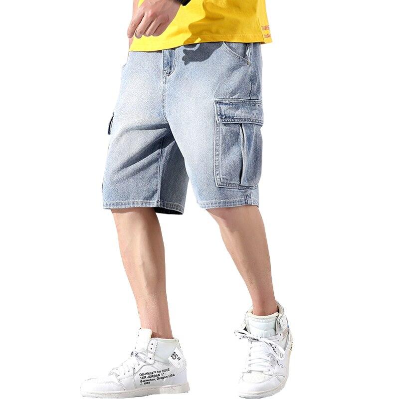 2019 Summer Style Men Streetwear Jeans Shorts Slim Fit High Street Jeans Shorts Men Cotton Denim Shorts ABZ400