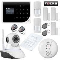 2,4 г Аварийная сигнализация wifi gsm безопасность дома Предупреждение детектора дыма pir датчик движения экран дисплей клавиатура приложение уп