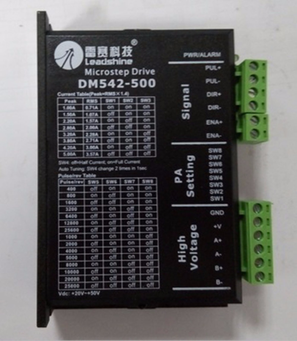DM542-500 Stepper unita 2ph 1 ~ 5A 20 ~ 50V DC corrispondenza 57mm nema23 86mm nema34 motore leadshine stepping motor driver stepper drive 2ph 1 5a 20 50vdc matching 57mm nema23 86mm nema34 motor dm542 500 leadshine page 10