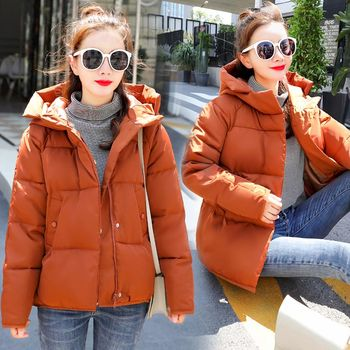 Brieuces new Winter Jacket Coat Women 2020 New Parka Short Slim Thickening Down Cotton-padded Female Outerwear