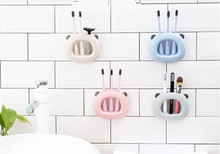 1PC 3 Holes Wall Mount Toothbrush Holder Suction Cup Hook Brush Teeth Holder Tooth Brush Stand Dust Cover Kids Bathroom OK 0868 400 5 6 0868