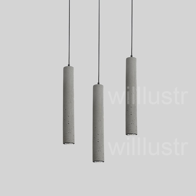 minimalist lighting. Willlustr Cement Pendant Light LED Gray Concrete Suspension Lamp Minimalist Design Lighting Hanging Dinning Room