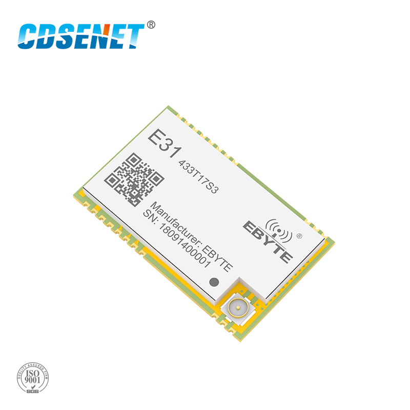 AX5243 SMD 433MHz IoT UART Wireless Transceiver E31-433T17S3 IPEX Stamp Hole Connector WOR 433 MHz Transmitter And Receiver